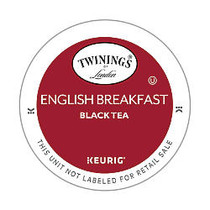 Twinings; Pods English Breakfast Tea K-Cup; Pods, 4 Oz, Box Of 18