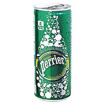 Perrier Slim Can Mineral Water, 8.45 Oz, 10 Cans Per Pack, Carton Of 3 Packs