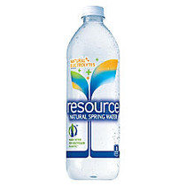 resource; Natural Spring Water, 23.6 Oz, 50% Recycled, Pack Of 24