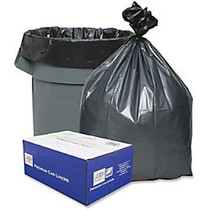 Webster Super Heavy-Duty Liners - Extra Large Size - 60 gal - 39 inch; Width x 56 inch; Length - Gray - Resin - 25/Carton - Can, Industrial Trash