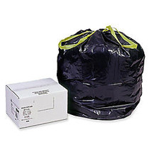 Webster; Drawstring Trash Can Liners, 30 Gallons, Black, Box Of 200