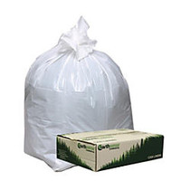 Webster; EarthSense; 75% Recycled Star bottom Commercial Can Liners, 13 Gallons, 0.70 Mil Thick, 24 inch; x 31 inch;, White, Box Of 150