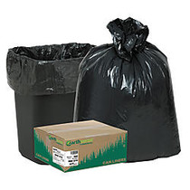 Webster; EarthSense; 75% Recycled Star bottom Commercial Can Liners, 16 Gallons, 0.65 Mil Thick, 24 inch; x 31 inch;, Black, Box Of 500