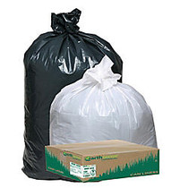 Webster; EarthSense; 75% Recycled Star bottom Commercial Can Liners, 31-33 Gallons, 1.25 Mil Thick, 33 inch; x 39 inch;, Black, Box Of 100