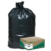 Webster; EarthSense; 75% Recycled Star bottom Commercial Can Liners, 40-45 Gallons, 1.25 Mil Thick, 40 inch; x 46 inch;, Black, Box Of 100