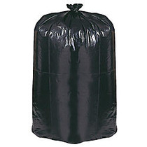 Webster; EarthSense; 75% Recycled Star bottom Commercial Can Liners, 55-60 Gallons, 1.25 Mil Thick, 38 inch; x 58 inch;, Black, Box Of 100