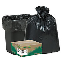 Webster; EarthSense; 75% Recycled Star bottom Commercial Can Liners, 7-10 Gallons, 0.65 Mil Thick, 24 inch; x 23 inch;, Black, Box Of 500