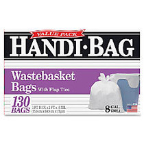Webster; Handi Bag Waste Liners, 8 Gallon, White, Box Of 130