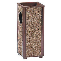 United Receptacle 30% Recycled Sand Urn Litter Receptacle, 2.5 Gallons, 24 inch; x 10 inch; x 10 inch;, Brown