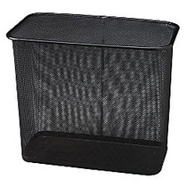 United Receptacle 30% Recycled Steel Mesh Rectangle Wastebasket, 7.5 Gallons, 16 inch; x 14 inch; x 8 1/2 inch;, Black