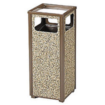 United Receptacle Sand Urn Litter Receptacle, 32 inch;H x 13 1/2 inch;W x 13 1/2 inch;D, 12-Gallon, Brown