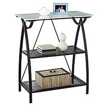 Realspace; Alluna Collection Bookcase, Black Frame/Frosted Glass