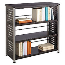 Safco Scoot Contemporary Design Bookcase - 36 inch; x 15.5 inch; x 36 inch; - 3 Shelve(s) - Material: Steel, Particleboard - Finish: Black, Laminate, Powder Coated