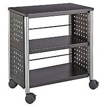 Safco Scoot Personal Contemporary Design Bookcase - 25 inch; x 15.5 inch; x 27 inch; - 2 Shelve(s) - Material: Steel, Particleboard - Finish: Black, Laminate, Powder Coated