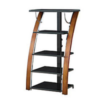 Whalen; Furniture Payton Audio & Video Component Tower, 48 inch;H x 27 inch;W x 21 inch;D, Tuscan Brown