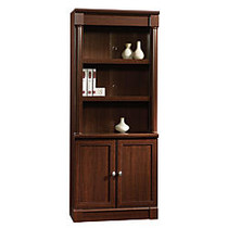 Sauder; Palladia Collection Library With Doors, 71 7/8 inch;H x 29 3/8 inch;W x 13 9/10 inch;D, Select Cherry