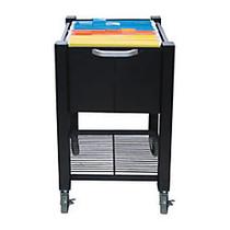 Vertiflex; SmartWorx Sidekick Steel File Cart, 27 3/4 inch;H x 15 inch;W x 16 1/2 inch;D, Black