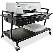 Vertiflex; Steel Underdesk Machine Stand With 2 Drawers, 15 7/16 inch;H x 25 5/16 inch;W x 15 13/16 inch;D, Black