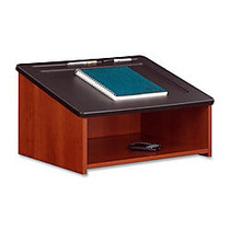 Safco Tabletop Lectern, 13 3/4 inch; x 24 inch; x 18 1/2 inch;, Cherry