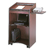Safco; 80% Recycled Executive Mobile Lectern, 46 inch;H x 25 1/4 inch;W x 19 3/4 inch;D, Mahogany