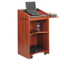 Safco; Executive Mobile Lectern, 46 inch;H x 25 1/4 inch;W x 19 3/4 inch;D, Cherry