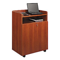 Safco; Executive Mobile Presentation Stand, 40 3/4 inch; x 29 1/2 inch; x 20 1/2 inch;, Cherry