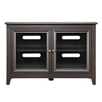 Whalen; Furniture Clinton Highboy TV Console For Flat-Panel TVs Up To 50 inch;, 30 inch;H x 44 inch;W x 21 inch;D, Mocha