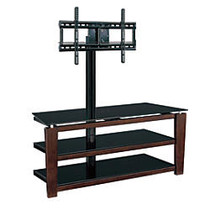 Whalen; Furniture Sydney 3-in-1 TV Stand For Flat-Panel TVs Up To 60 inch;, 58 inch;H x 52 inch;W x 21 5/8 inch;D, Cherry