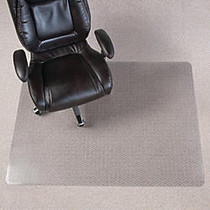 Realspace; Chair Mat For Thin Commercial-Grade Berber Carpets, Rectangular, 46 inch;W x 60 inch;D, Clear