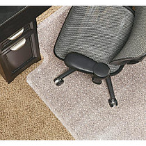 Realspace; DuraMat Chair Mat For Low-Pile Carpet, Studded, 36 inch;W x 48 inch;D, Clear