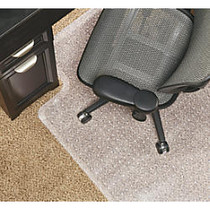 Realspace; Economy Chair Mat For Low-Pile Carpets, 36 inch;W x 48 inch;D, Studded, Standard Lip, Clear