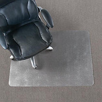 Realspace; Economy Chair Mat For Thin Commercial-Grade Carpets, Rectangular, 46 inch;W x 60 inch;D, Clear