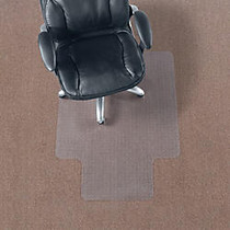 Realspace; Economy Chair Mat For Thin Commercial-Grade Carpets, Standard Lip, 36 inch;W x 48 inch;D, Clear