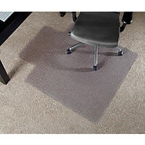 Realspace; Economy Chair Mat For Thin Commercial-Grade Carpets, Wide Lip, 45 inch;W x 53 inch;D, Clear