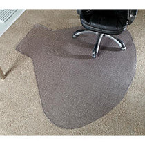 Realspace; L-Shaped Workstation Chair Mat, 66 inch;W x 60 inch;D, Clear