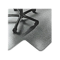 Textured Floor Mat For Carpet, For High-Pile Carpets, 45 inch;W x 53 inch;D, 20 inch;W x 10 inch;D Lip, Clear (AbilityOne)