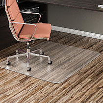 Realspace; 35% Recycled Hard-Floor Non-Studded Chair Mat, 36 inch; x 48 inch;