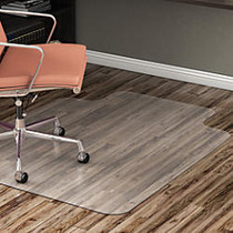 Realspace; Hard Floor Chair Mat, Wide Lip, 45 inch;W x 53 inch;D, Translucent