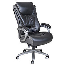 Serta; Big & Tall Smart Layers™ Blissfully Bonded Leather High-Back Chair, Black/Gray