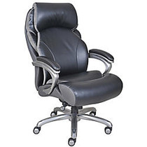 Serta; Big & Tall Smart Layers™ Tranquility Bonded Leather High-Back Chair With AIR™ Technology, Black/Slate