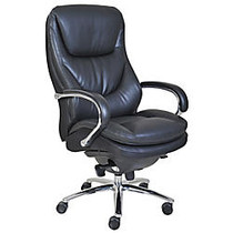 Serta; Smart Layers™ Big & Tall Commercial Series 600 Task Chair, Polished Steel/Black