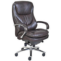 Serta; Smart Layers™ Big & Tall Commercial Series 600 Task Chair, Polished Steel/Brown