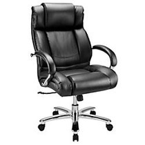 WorkPro; 15000 Series Big & Tall High-Back Chair, Black/Silver
