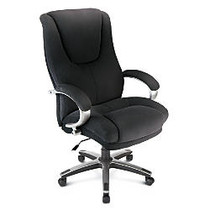 WorkPro; Belbrook Executive Big & Tall Fabric High-Back Chair, Black/Silver