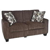 Serta; RTA San Paolo Collection Fabric Loveseat Sofa, 35 inch;H x 61 inch;W x 32 1/2 inch;D, Mink Brown