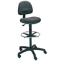 Safco; Precision Extended-Height Fabric Chair, 42-54 inch;H x 25 inch;W x 25 inch;D, Black Frame, Black Fabric