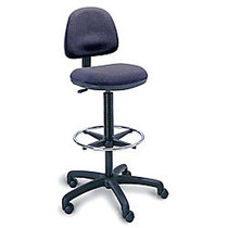 Safco; Precision Extended-Height Fabric Chair, 42-54 inch;H x 25 inch;W x 25 inch;D, Black Frame, Dark Gray Fabric