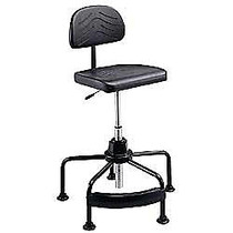 Safco; Task Master; Economy Industrial Chair With Footrest, 17 inch;-35 inch;H x 26 inch;W x 26 inch;D, Chrome/Black