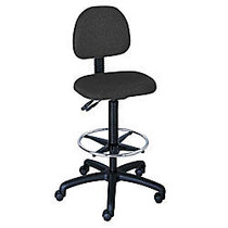 Safco; Trenton Extended-Height Stool, 41 to 51 inch;H x 25 inch;W x 25 inch;D, Black Frame, Black Fabric