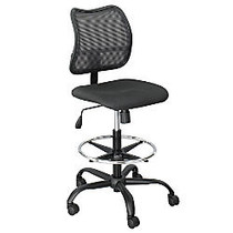Safco; Vue™ Mesh Extended Height Chair, 49 1/2 inch;H x 25 inch;W x 17 1/2 inch;D, Black